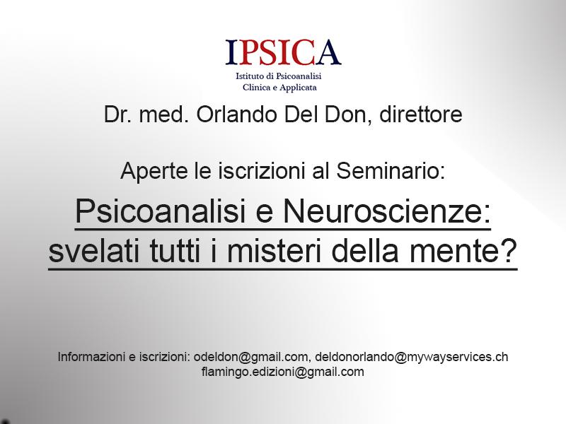 Seminario Psicoanalisi e neuroscienze: svelati tutti i misteri della mente?